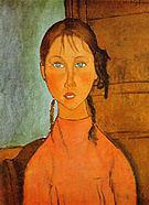 Amedeo Modigliani Girl with Braids 1918
