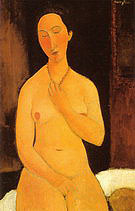 Amedeo Modigliani Seated Nude with Necklace 1917
