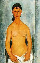 Amedeo Modigliani Standing Nude-Elvira 1918