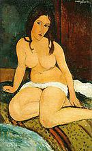 Amedeo Modigliani Seated Nude 1917