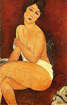 Amedeo Modigliani Seated Nude on Divan 1917