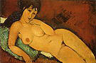 Amedeo Modigliani Nude on a Blue Cushion 1917