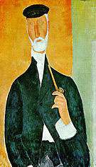 Amedeo Modigliani Man with Pipe The Notary of Nice 1918
