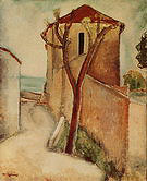 Amedeo Modigliani Tree and Houses c1918