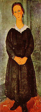 Amedeo Modigliani The Young Chambermaid 1918