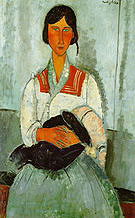 Amedeo Modigliani Gypsy Woman with Child 1919