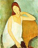 Amedeo Modigliani Portrait of Jeanne Hebuterne 1918