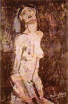Amedeo Modigliani Sorrowful Nude 1908