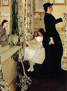 James McNeill Whistler Harmony in Green and Rose The Music Room 1860-1861