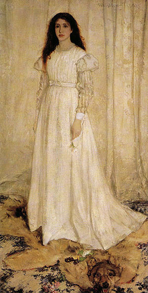 James McNeill Whistler Symphony in White No 1 The White Girl 1862