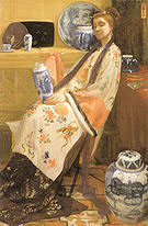 James McNeill Whistler Purple and Rose The Lange Leizen of the Six Marks (Lady of the Land Lijsen) 1864
