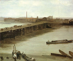 James McNeill Whistler Brown and Silver Old Battersea Bridge 1859