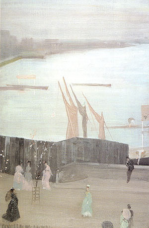 James McNeill Whistler Variations in Pink and Grey Chelsea 1871