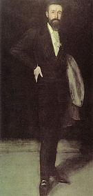James McNeill Whistler Arrangement in Black Portrait of F R Leyland