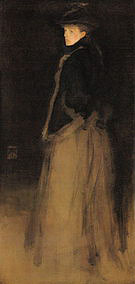 James McNeill Whistler Arrangement in Black and Brown The Fur Jacket 1876