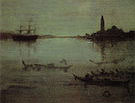 James McNeill Whistler The Lagoon Venice Nocturne in Blue and Silver 1880