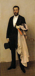 James McNeill Whistler Arrangement in Flesh Color and Black: Portrait of Theodore Duret 1883-1884