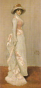 James McNeill Whistler Harmony in Pink and Grey Portrait of Lady Meux 1881-1882