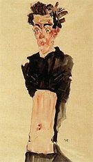 Egon Scheile Self-Portrait with Bare Stomach 1911