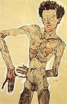 Egon Scheile Self-Portrait Standing  1910