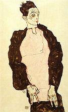 Egon Scheile Self-Portrait in Lilac Shirt  1914