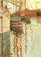 Egon Scheile Trieste Harbour 1907