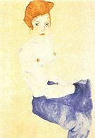 Egon Scheile Seated Girl  1911