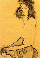 Egon Scheile Black Haired Girl  1911
