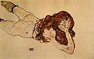 Egon Scheile Nude woman Lying on her Stomach 1917