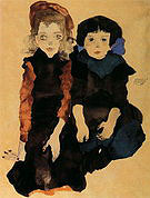 Egon Scheile Two Young Girls 1911