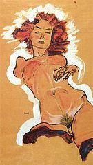 Egon Scheile Female Nude 1910
