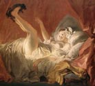 Jean Honore Fragonard Young Woman Playing with a Dog  c1765