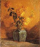 Piet Mondrian Yellow Chrysanthemums in a Ginger Pot 1898