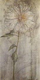 Piet Mondrian Upright Chrysanthemum against a Blue Grey Ground 1901
