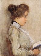 Piet Mondrian Female Torso in Profile with Book c1898