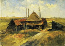 Piet Mondrian Haystack and Farm Sheds in a Field c1897