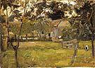 Piet Mondrian Farmyard in Het Gooi Flanked by Saplings 1901-02