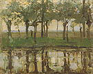 Piet Mondrian Row of Young Willows Reflected in the Water 1905