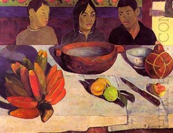 Paul Gauguin The Meal Bananas 1891
