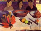 Paul Gauguin The Meal Bananas 1891