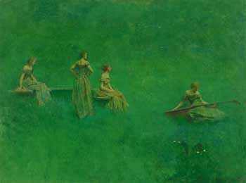 Thomas Wilmer Dewing The Lute 1904