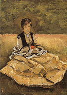 Gustave Caillebotte Woman seated on the grass 1873