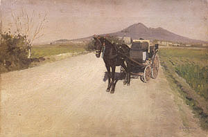Gustave Caillebotte A Road near Naples 1872