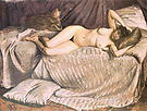 Gustave Caillebotte Nude Woman on a Sofa 1873