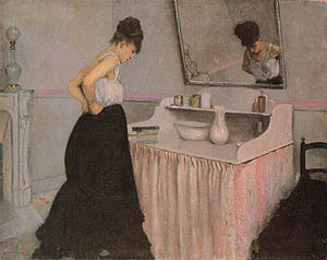 Gustave Caillebotte Woman at a Dressing Table 1873