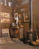 Gustave Caillebotte Interior of a Studio with Stove c1872