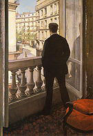 Gustave Caillebotte Young man at his Window 1876