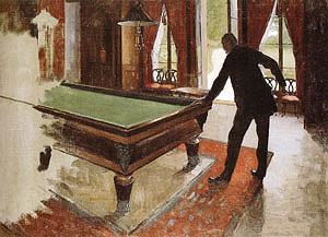 Gustave Caillebotte Billiards 1875