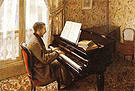 Gustave Caillebotte Young man playing the Piano 1876
