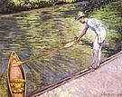 Gustave Caillebotte Boater Pulling in his Perissoire 1878